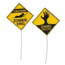 Znak Uwaga Zombie 21x21cm