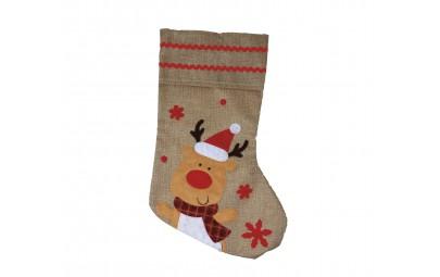 Skarpeta świąteczna renifer