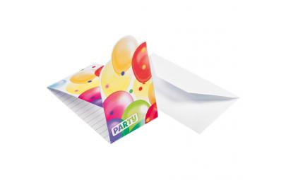 Zaproszenia Balony 8szt