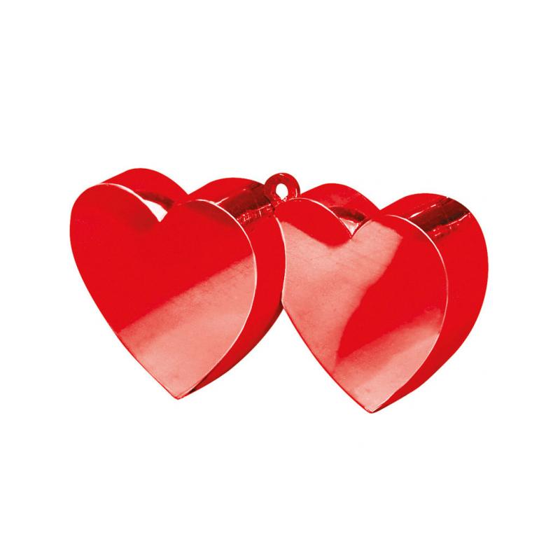 Obciążnik dwa serca czerwone 150g