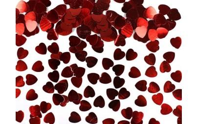 Konfetti czerwone serca...