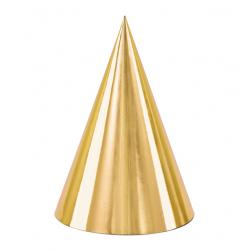 Czapeczki złote 10cm 6szt