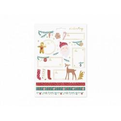 Naklejki świąteczne Mikołaj mix