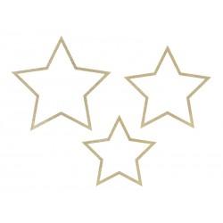 Zawieszki dekoracyjne gwiazdy mix 3szt