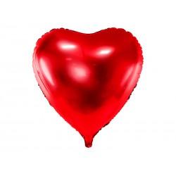 Balon foliowy serce czerwone 72x73cm