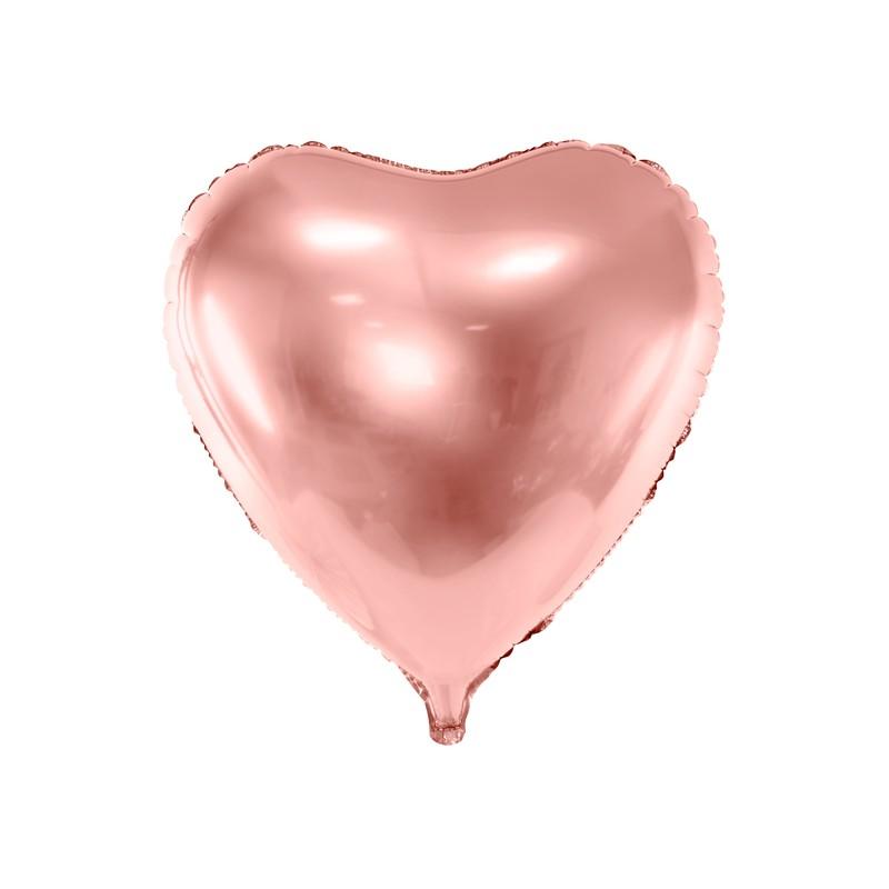 Balon foliowy serce 72x73cm różowe złoto