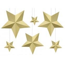 Gwiazdy papierowe złote...