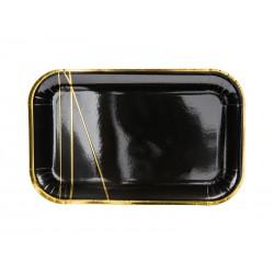 Talerz papierowy czarny 22x13,5cm