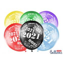 Balon 30cm 2021 metalik mix