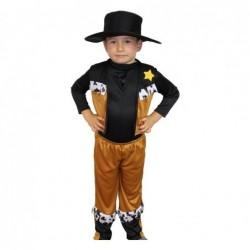 Strój dla dzieci Kowboj roz.L/140cm (kapelusz, kamizelka, spodnie)