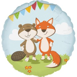 "Balon foliowy 18"" Fox & Beaver"