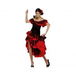 Strój dla dorosłych Flamenco rozm. M (sukienka, dekoracja na głowę)