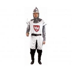 Strój dla dorosłych Polski Rycerz roz.56 (bluza, czapka, spodnie, pas, nakładki na buty)