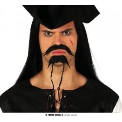 Wąsy i broda pirackie