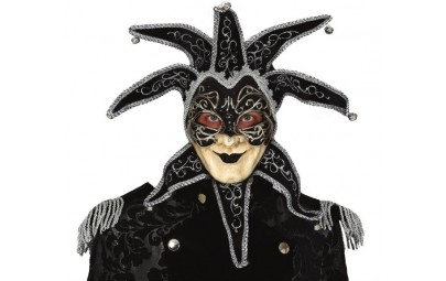 Maska wenecka czarna