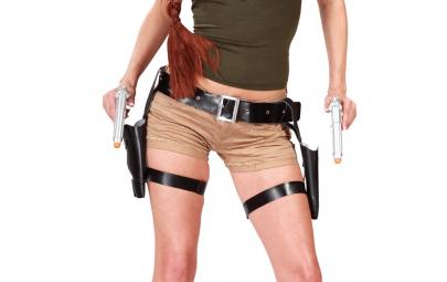 Kabura podwójna z pistoletem