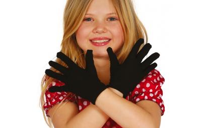 Rękawiczki czarne dziecięce...