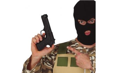 Pistolet czarny 24cm