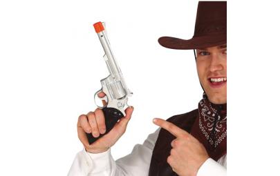 Pistolet kowbojski srebrny...