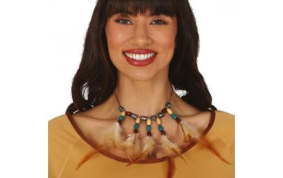 Naszyjnik indiański z piórami
