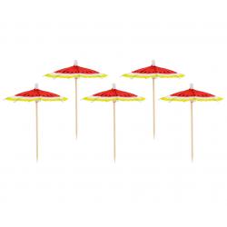 Parasolki papierowe Słodki arbuz 10cm 10szt