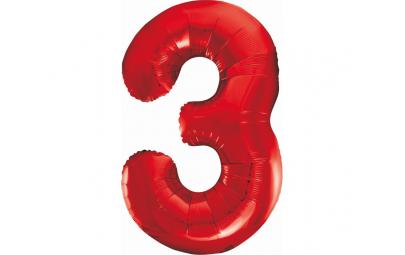 """Balon foliowy 36""""cyfra 3..."""