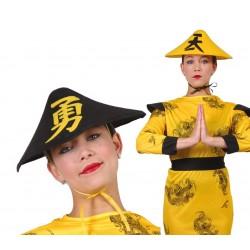 Czapka chińska żółta /czarna