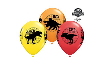 """Balon 12"""" Jurajski świat 6szt"""