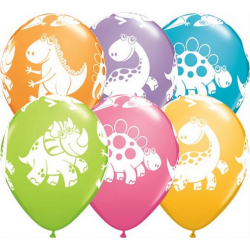 """Balon 11"""" Słodkie i milutkie dinozaury 6szt"""