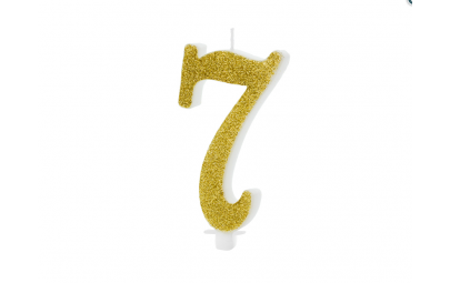 Świeczka urodzinowa cyfra 7...