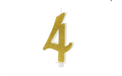 Świeczka urodzinowa cyfra 4...