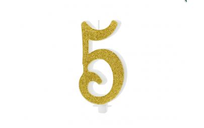 Świeczka urodzinowa cyfra 5...