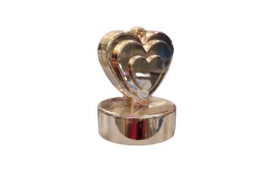 Obciążnik serce różowe złoto