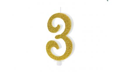 Świeczka urodzinowa cyfra 3...