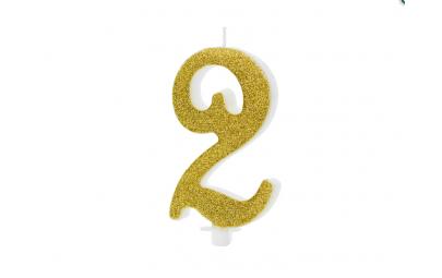 Świeczka urodzinowa cyfra 2...