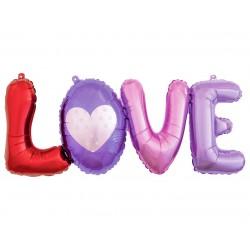 Balon foliowy litery LOVE 74cm