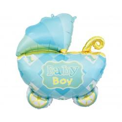 Balon foliowy Wózek niebieski 60cm