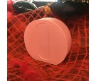 Świeca litera O jasny różowy perłowy 114x112x37mm 299g