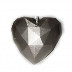 Świeca serce srebrny...
