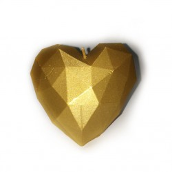 Świeca serce złoty metalik...