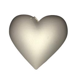 Świeca serce biały perłowy...