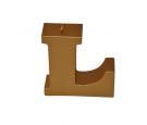 Świeca litera L złoty metalik 109x112x37mm 201g