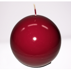 Świeca kula lakier bordowy 100mm