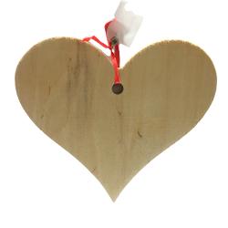 Serce drewniane zawieszka...