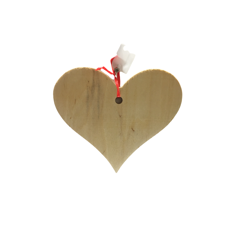 Serce drewniane zawieszka 13x16cm/3.0