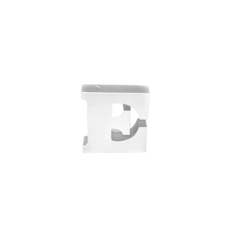 Świeca litera E biały perłowy 108x112x37mm 258g