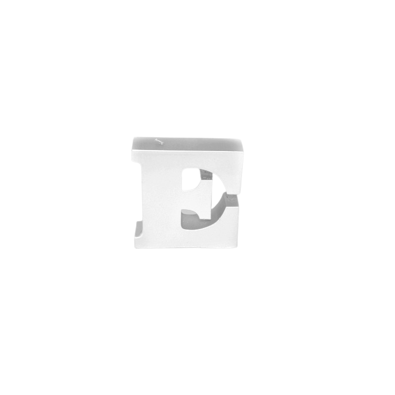 Świeca litera E srebrny metalik 108x112x37mm 258g
