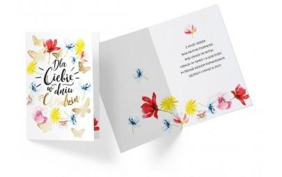 Kartka urodzinowa motylki