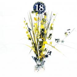 Dekoracja na stół złota 18 urodziny 45,7cm