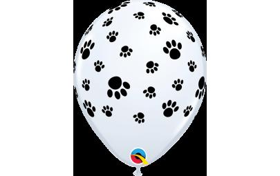 """Balon 11"""" Biały z odciskami..."""